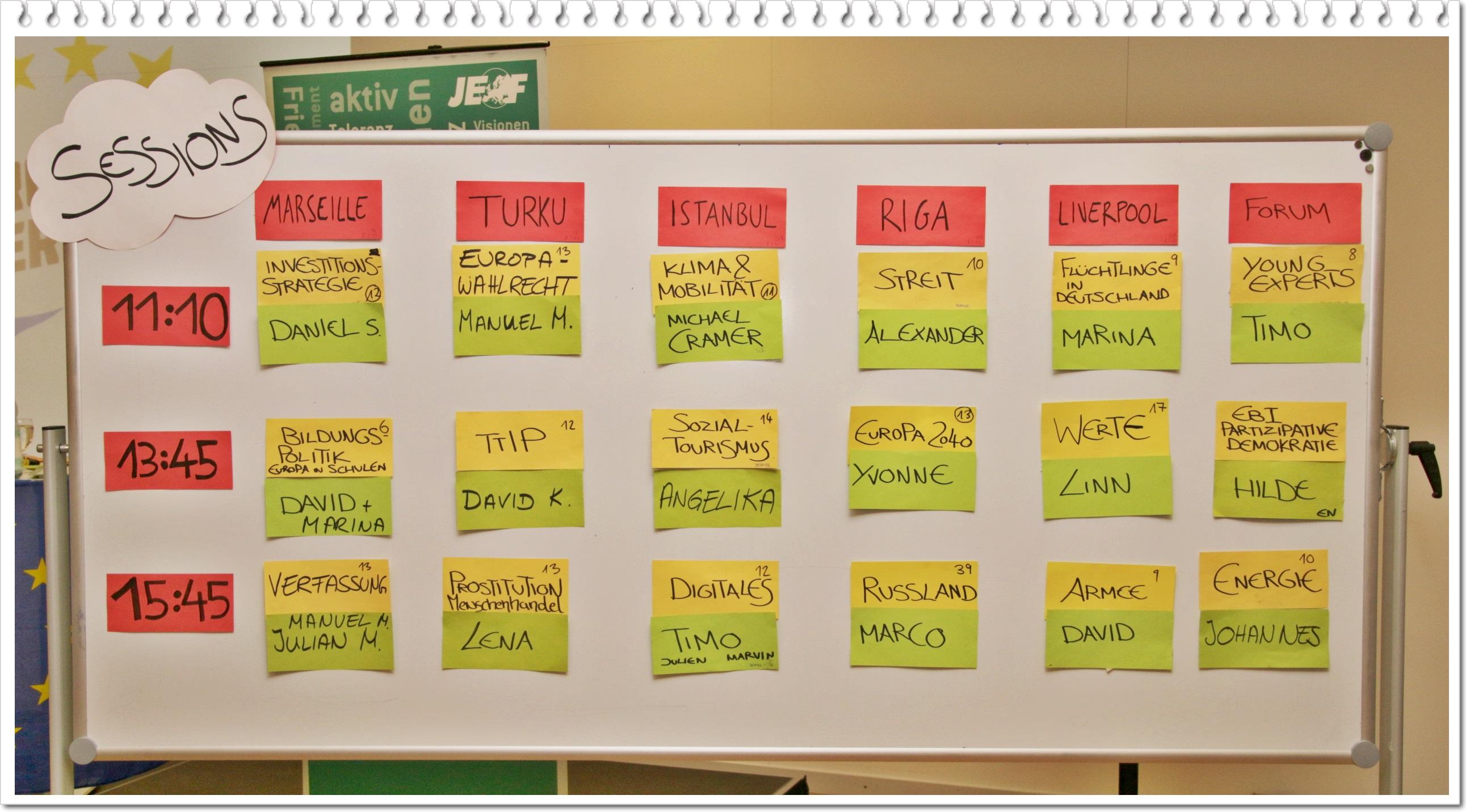 Sessionplan 2014